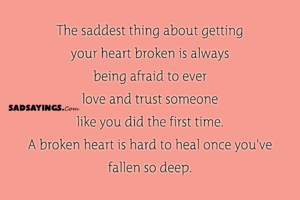 Sad Sayings About Broken Trust - SadSayings.com