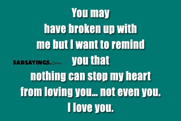 you have broken me
