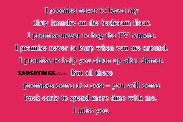 Sad Sayings About Missing Your Wife - Sad Sayings