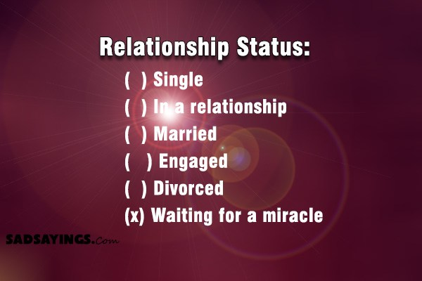 sad love relationship status single