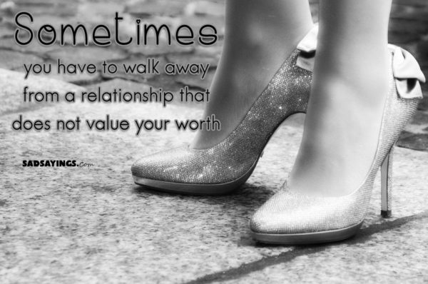 Walk away from a bad relationship